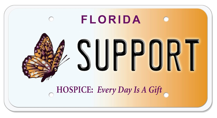 Hospice Specialty License Plate