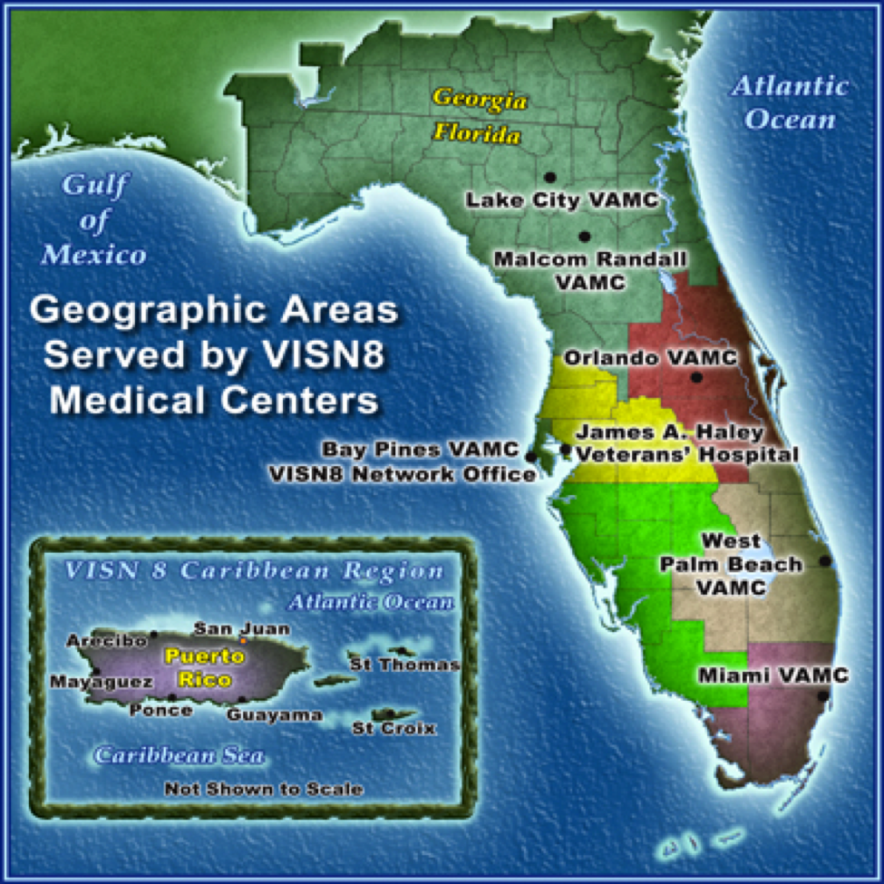 Find a VISN 8 Medical Center near you!